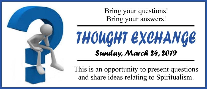 Thought Exchange Mar 2019