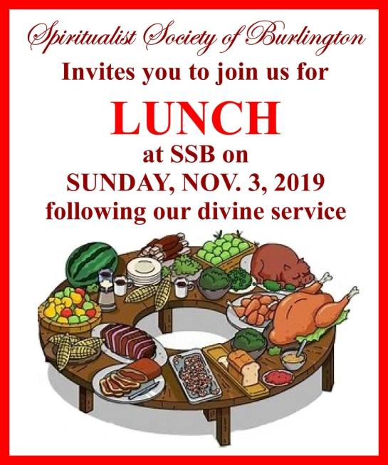 Lunch Nov 2019