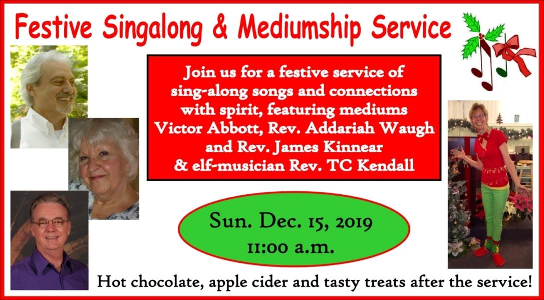Fest Singalong & Mediumship Service 2019