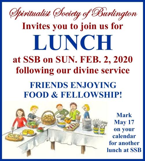 Lunch Feb 2, 2020